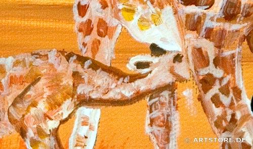 Wandbild Mia Morro GIRAFFEN - AFRIKA BILDER EDITION Detailausschnitt