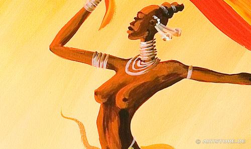 Wandbild Mia Morro NACKTE FRAUEN TANZEN Detailausschnitt