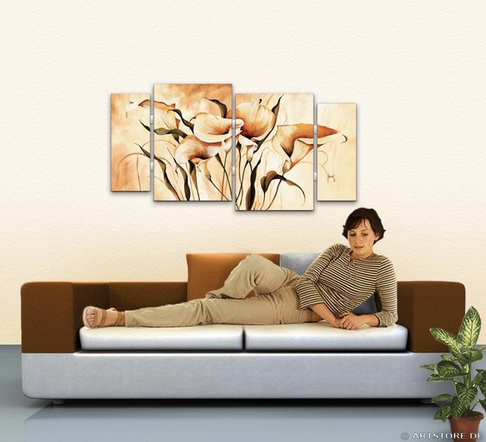 Wandbild Mia Morro CALLAS EXOTISCH Wohnbeispiel