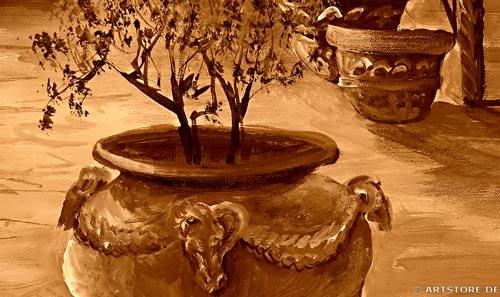 Wandbild Mia Morro BRUNNEN DES LEBENS Detailausschnitt