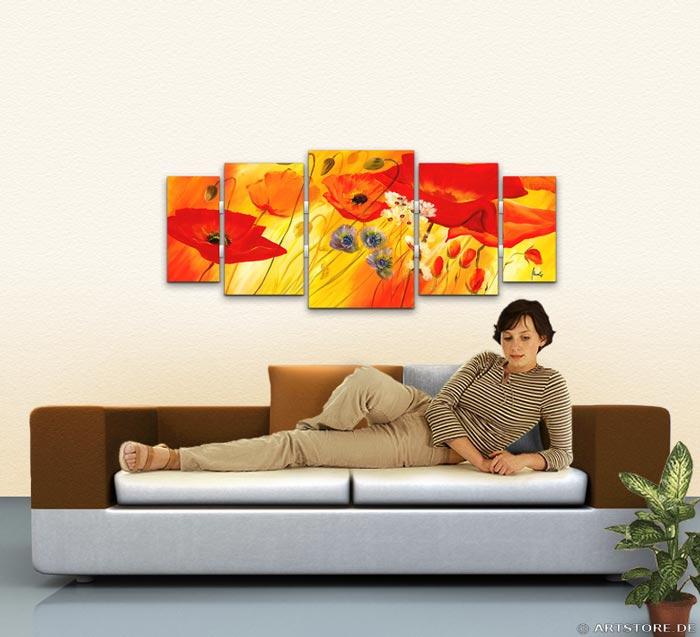 Wandbild Mia Morro SOMMER BLUMEN EDITION Wohnbeispiel