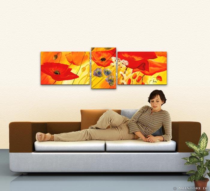 Wandbild Mia Morro BLUMEN EDITION Wohnbeispiel