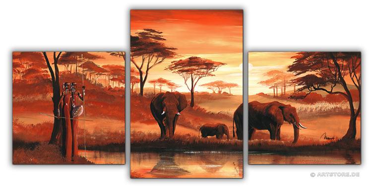 Wandbild Mia Morro AFRIKA ELEFANTEN