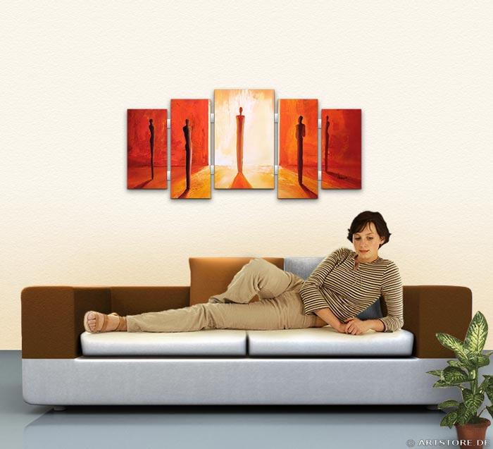Wandbild Mia Morro INTO THE LIGHT Wohnbeispiel