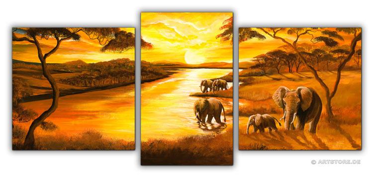 Wandbild Mia Morro AFRIKA SONNE