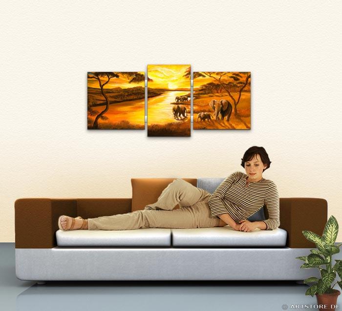 Wandbild Mia Morro AFRIKA SONNE Wohnbeispiel