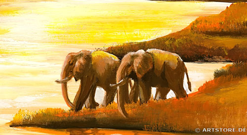 Wandbild Mia Morro AFRIKA SONNE Detailausschnitt