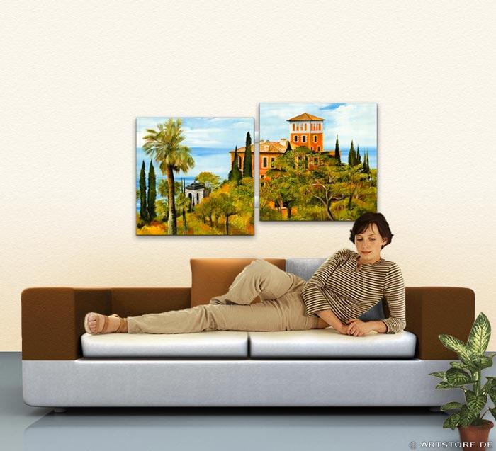 Wandbild Mia Morro VILLA MEDITERRAN Wohnbeispiel