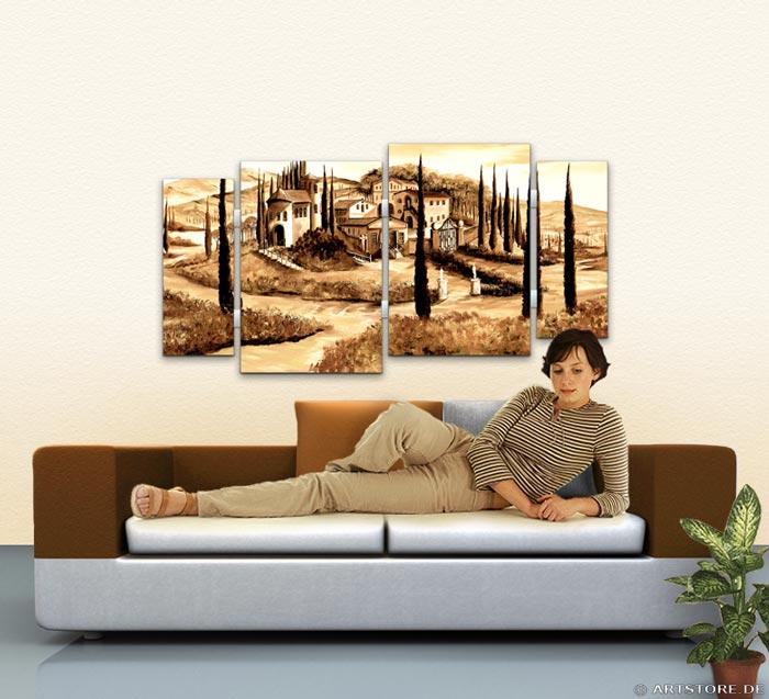 Wandbild Mia Morro TOSKANA MEDITERRAN Wohnbeispiel