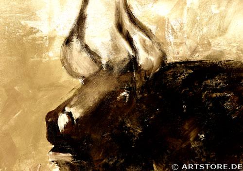 Wandbild Mia Morro EL TORO - DER STIER Detailausschnitt