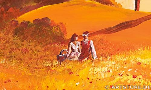 Wandbild Mia Morro TOSKANA LIEBE Detailausschnitt