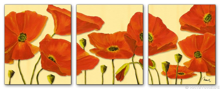 Wandbild Mia Morro BEAUTIFUL POPPY