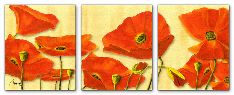 Wandbild Mia Morro BEAUTIFUL POPPYS
